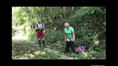 BBW granny receives screwed in the forest