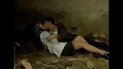 Italian porn vintage: sex in a cavern with a sexy provinces girl