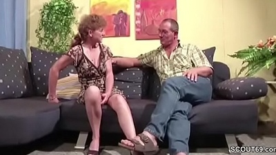 German Mom coupled with Dad Have Fun at Hard Bonk coupled with Facial