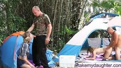 Daddy Daughter Alfresco Orgy