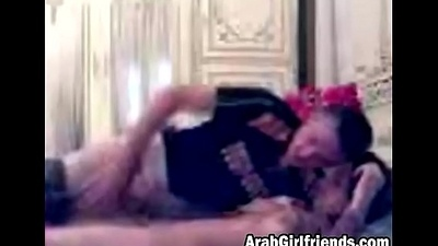 Arab couple turns sensual make-out into awesome sex