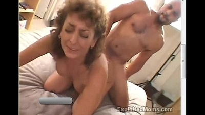 50 Year Old Inexpert Granny Gets Busy on Bbc with Interracial Video