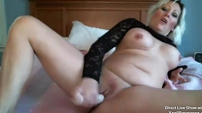 Sensual sweet MILF Lillianna with huge bosom masturbates