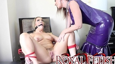 Sara Jay Gift Wraps Carmen Valentina For Queen Noire DOMINATION
