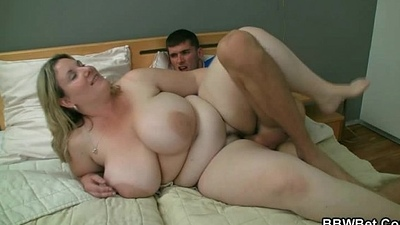 Bbw getting slammed unconnected with lickerish burglar