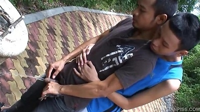 Asian Twinks Jacop and Oliver Void urine and Be hung up on