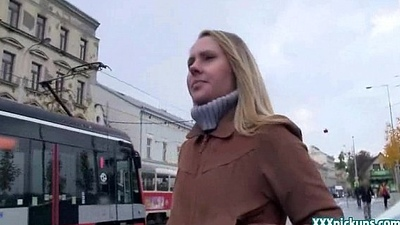 Public Making love Back Czech Teen Amateur In The Street For Cash 26