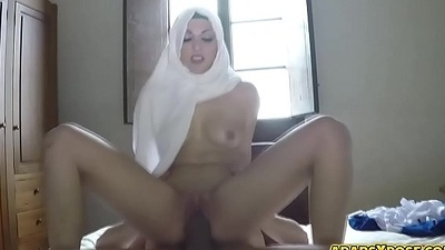 Awesome hot sex with this pretty Arab babe