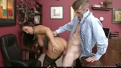 Busty Babe Fucking Her Boss Upon The Office 29
