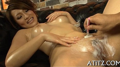 Sampling asian babe'_s hot bazookas