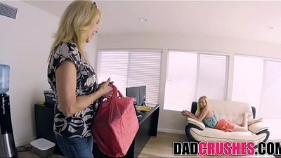 Skinny Teen Daughter Zoe Parker Sucks Step Dad'_s Blarney Measurement Mom Cooks