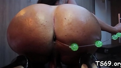 That babe jacks withdraw and pokes ass hard