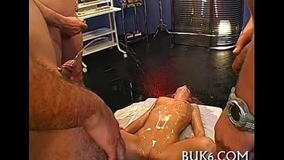 Studs pissing unrestrainedly on honey