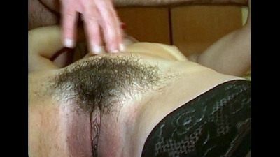 Hot dilettante brunette wildly drilled at home