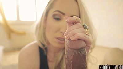 Candy May - Slow and sexy handjob close-up