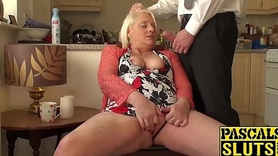 British mature pretty good granny Carol frigs her wet pussy
