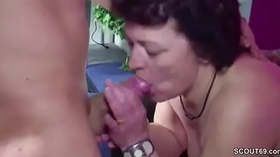 German Step-son Caught Mom Masturbate added to Inveigle to Fuck