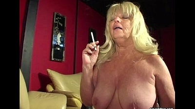 Big titted smoking granny sucks eternal horseshit