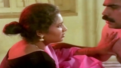 Hot Aunty and Man in Room Scene  Uma Maheshwari hot glamour instalment