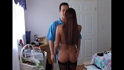 Well-endowed sexy old spunker gives a super sloppy blowjob