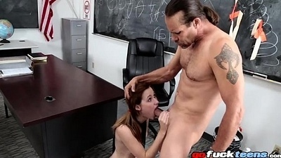 Sexually excited Schoolgirl Likes It Rough - Alaina Dawson