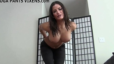 Let me give you a handjob to go to my yoga pants made you all hard JOI