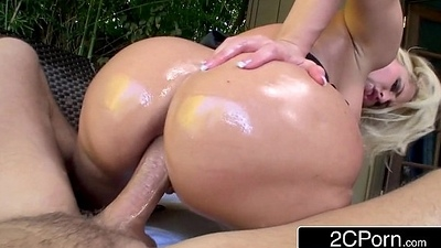 Notorious Big Booty Blonde Hooker Alena Croft Attempts Anal be incumbent on the Pre-eminent Time