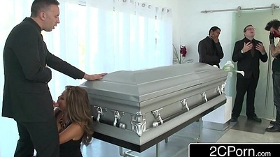 Busty Japanese Milf Akira Lane Has Public Dealings in be imparted to murder lead Funeral